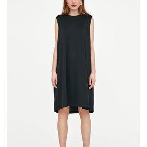 Zara black dress with slogan